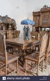 Belgian Interior Design Style Antique Kitchen Interior In Traditional Belgian Style Stock