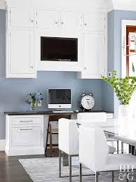 kitchen office desk.  Kitchen White Kitchen Cabinets With Build In Computer Desk Throughout Kitchen Office Desk