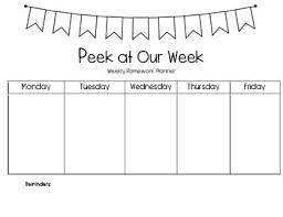 Weekly Homework Planner Peek At Our Week Weekly Homework Planner