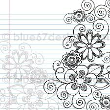 hand drawn sketchy notebook doodle flower page border vector ilration by blue67design flickr photo sharing