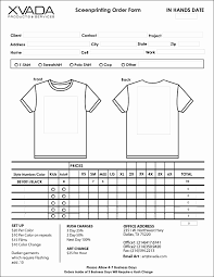 Facebook Message Template For Word Fresh Sample T Shirt Order Form