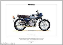 image is loading kawasaki a7 avenger motorcycle fine art print 350cc
