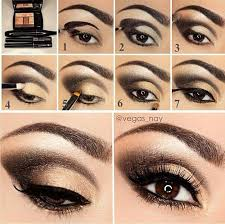 black and gold smokey eye makeup tutorial