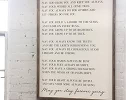 forever young framed wood sign song lyrics home decor gift ideas oversized custom wall art large wood sign on always forever inspirational reclaimed wood wall art with large wood wall art etsy