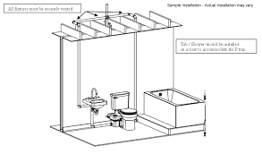 sample installation of the liberty ascent ii macerating toilet system