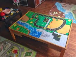 a lego table built for twins diy from kidkraft train table