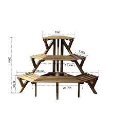 indoor corner plant stands ha 3 tier fir wood corner plant stand pot rack for indoor