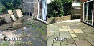 cleaning paving stones cleaning paving stones garden paving slabs patio before and after paving slabs in cleaning paving stones