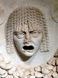 Image result for greek mask of tragedy