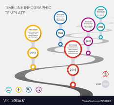 Timeline Photo Template Company Timeline Template With Wavy Path