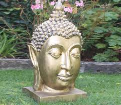 thai buddha head statue garden sculpture ornament