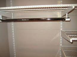 sloped ceiling clothes rod bracket closet hanging shelves from awesome image ideas for install angled ro