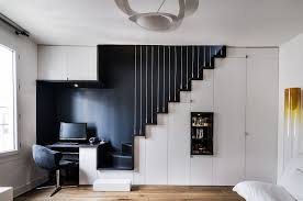 home office black desk. Eclectic White And Black Style Design Of Home Office Desk A