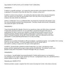 Student Character Reference Letter Character Reference Letter Sample For School Family