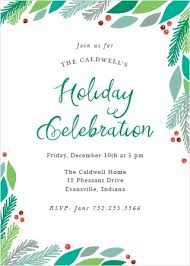 Party Invitaion Templates Holiday Party Invitations Match Your Color Style Free Basic