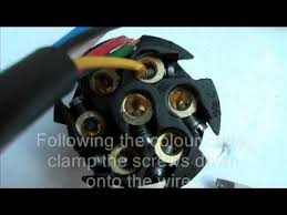 how to wire a 7 pin trailer plug youtube 7 Plug Truck Wiring Diagram 7 Plug Truck Wiring Diagram #67 7 way truck plug wiring diagram