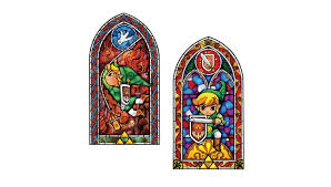 jd zelda stained galss decal legend of zelda stained glass wall