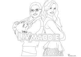 Coloriage Liv Et Maddie Imprimer Sur Coloriages Info