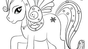 Unicorn Coloring Pages Online Free Kawaii Cute Page Rainbow Magic As