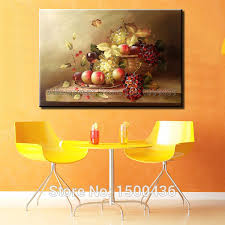 high quality hand painted modern abstract still life oil painting fruit picture kitchen wall art canvas decoration no frame