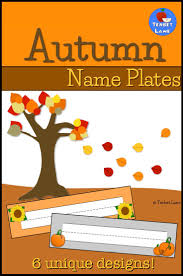 adorable student desk name labels in a cozy fall theme also great for word walls