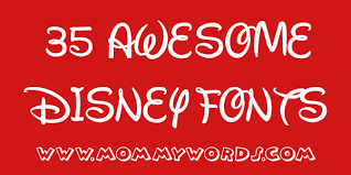 Disney Font 35 Awesome And Free Disney Fonts Thats Vandy
