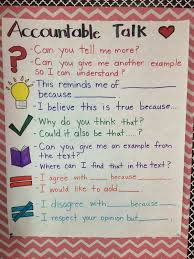 Accountable Talk Accountable Talk Reading Anchor Charts