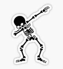 dabb dance. dabbing skeleton (dab) sticker dabb dance