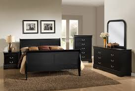 Louis Philippe Bedroom Furniture Louis Philippe Black Queen Bedroom Set My Furniture Place