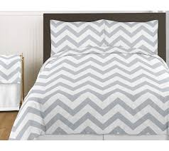 gray and white chevron 3pc childrens and teen zig zag full queen bedding set collection only 99 99