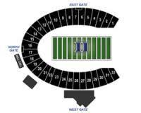 Duke University Football Stadium Seating Chart Facility Seating Information Iron Dukes