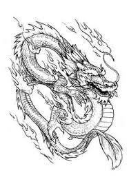 Gratis Kleurplaat Kleuring Pagina Chinese Draak Draak Komt Met Vuur