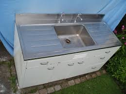 metal kitchen sink cabinet unit sinks silver and white