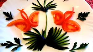 Garnish Design How To Make Tomato Garnish Design Butterfly Cucumber Carving Art Vegetable Carving