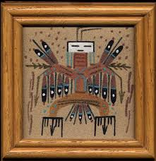 sand paintings are used by navajo cine men in healing rituals
