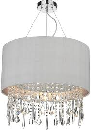 square drum shade chandelier dar lizard silver lined drum crystal pendant light colour choice