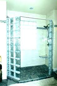 glass block shower kits glass block shower kits corner walk in seven home depot designs