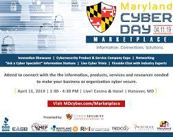 Tres días con las más atractivas ofertas y promociones. Maryland Cyber Day Marketplace Tedco
