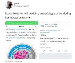 Ticketmaster Taylor Swift Seating Chart Taylor Swifts Reputation Stadium Tour Tbn