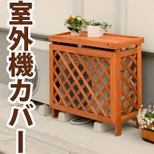 air conditioning covers outdoor units. outdoor machine cover air conditioner rack awning cedar natural wooden conditioning covers units