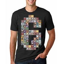 Mens Rainbows Size Chart Us 10 39 20 Off New Summer Tom Clancys Rainbow Six Siege Mens T Shirts Gold Badge 6 Printed T Shirt Men T Shirts Male Tshirts In T Shirts From