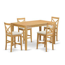 East West Furniture Capri 5 Piece Counter Height Dining Table Set