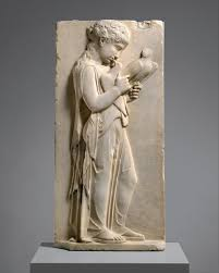 Marble grave stele of a <b>little girl</b> | Greek | Classical | The Metropolitan ...