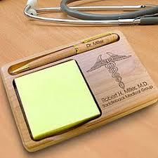 gift for doctors personalized wooden notepad and pen holder for doctors giftsfordoctors