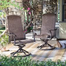 belham living charter all weather wicker swivel rocker set of wicker patio swivel rocking chair outdoor