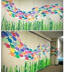 stunning school wall decoration with paint ideas small home decor for classroom