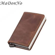 rfid wallet leather credit card holder card wallet purse aluminium bank business id holder case porte carte las leather wallets branded wallets from