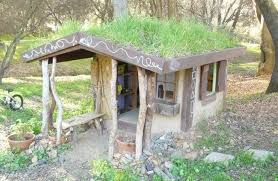 the cob style playhouse