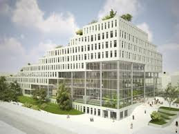 green office building. Architecture, Green Roof, Living Office, Park Space, Open Space Office Building E