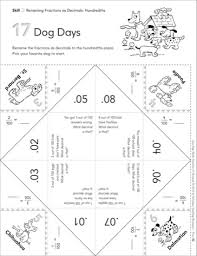 9780545209274 025_p01_428x473 dog days (renaming fractions as decimals hundredths) fun flaps on fractions to decimals 5th grade printable